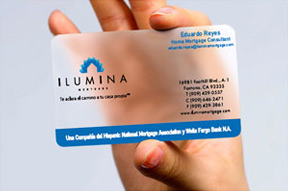 Transparent business cards and clear plastic business card printing make a head start into your business colourmoves