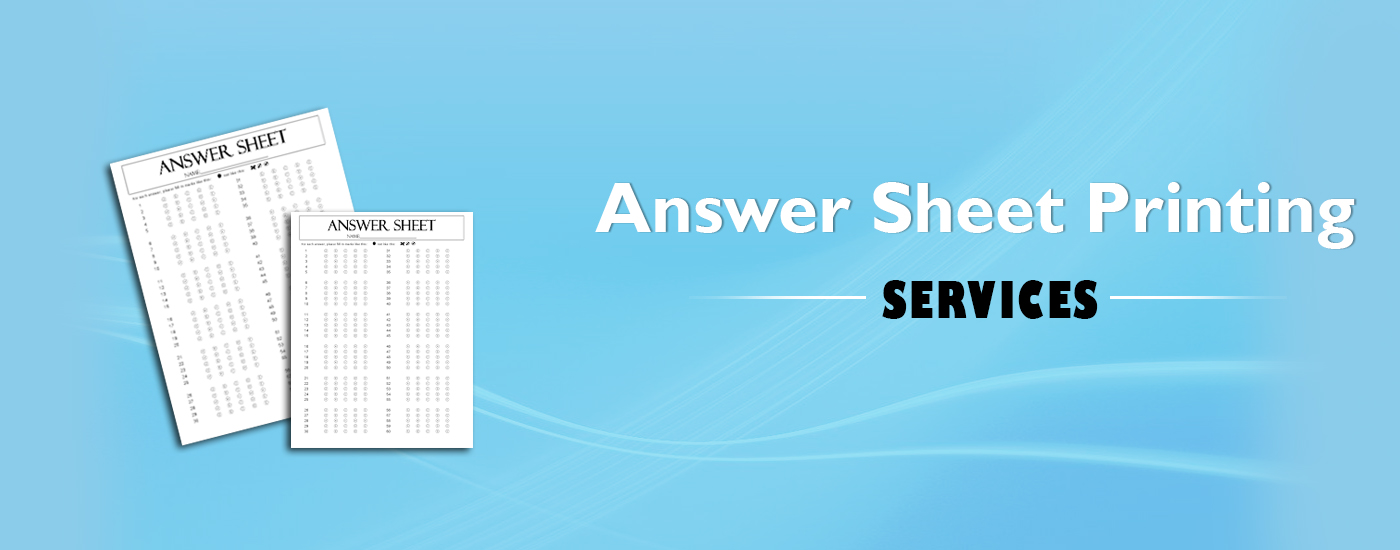 Answersheet Printing Services